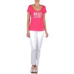 Textiel Dames 5 zakken broeken Tommy Hilfiger LENNY Roze