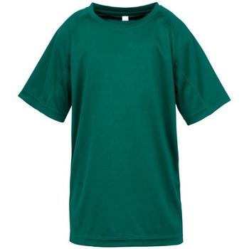 Textiel Jongens T-shirts korte mouwen Spiro S287J Fles groen