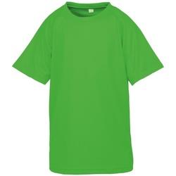 Textiel Jongens T-shirts korte mouwen Spiro S287J Flo Green