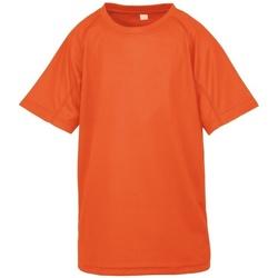 Textiel Jongens T-shirts korte mouwen Spiro S287J Flo Oranje