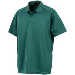 Textiel Heren Polo's korte mouwen Spiro S288X Fles groen