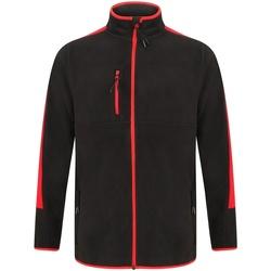Textiel Fleece Finden & Hales LV580 Zwart/Rood