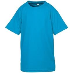 Textiel Kinderen T-shirts korte mouwen Spiro SR287B Oceaan Blauw