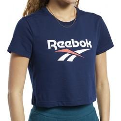Textiel Dames T-shirts korte mouwen Reebok Sport  Blauw