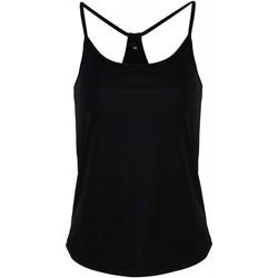 Textiel Dames Mouwloze tops Tridri TR043 Zwart