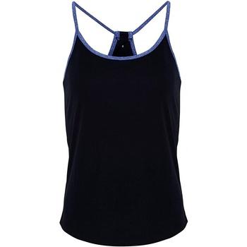 Textiel Dames Tops / Blousjes Tridri TR043 Franse marine / Blauwe Melange
