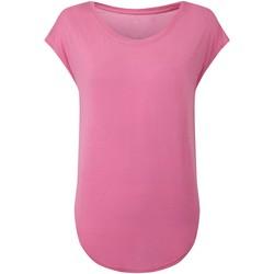 Textiel Dames T-shirts korte mouwen Tridri TR045 Snoepjesroze