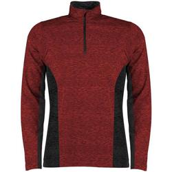 Textiel Heren T-shirts met lange mouwen Rhino RH013 Rood/zwart