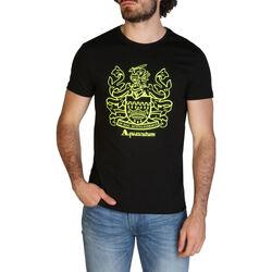 Textiel Heren T-shirts korte mouwen Aquascutum - qmt019m0 Zwart