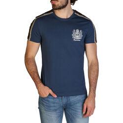 Textiel Heren T-shirts korte mouwen Aquascutum - qmt017m0 Blauw