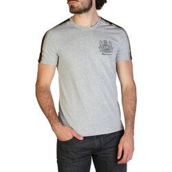 Textiel Heren T-shirts korte mouwen Aquascutum - qmt017m0 Grijs