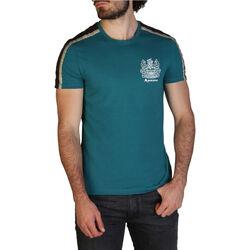 Textiel Heren T-shirts korte mouwen Aquascutum - qmt017m0 Groen