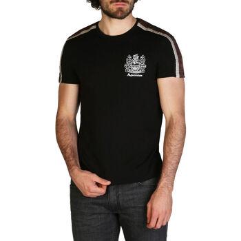 Textiel Heren T-shirts korte mouwen Aquascutum - qmt017m0 Zwart