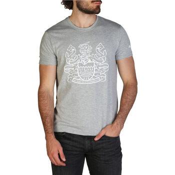 Textiel Heren T-shirts korte mouwen Aquascutum - qmt002m0 Grijs