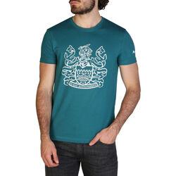 Textiel Heren T-shirts korte mouwen Aquascutum - qmt002m0 Groen
