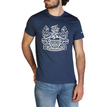 Textiel Heren T-shirts korte mouwen Aquascutum - qmt002m0 Blauw