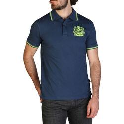 Textiel Heren Polo's korte mouwen Aquascutum - qmp025 Blauw