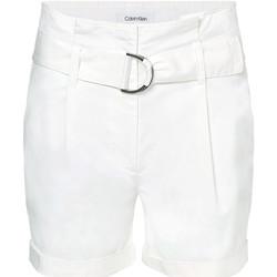 Textiel Dames Korte broeken / Bermuda's Calvin Klein Jeans K20K202820 Wit