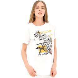 Textiel Dames T-shirts korte mouwen Fracomina FR21ST3007J40110 Wit