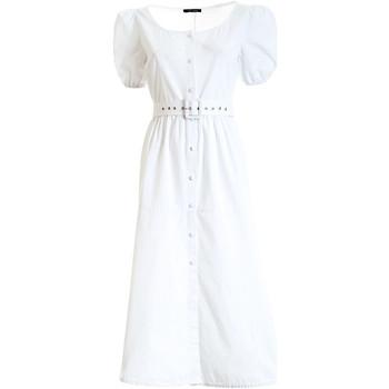 Textiel Dames Lange jurken Fracomina F321SD3005W40301 Wit