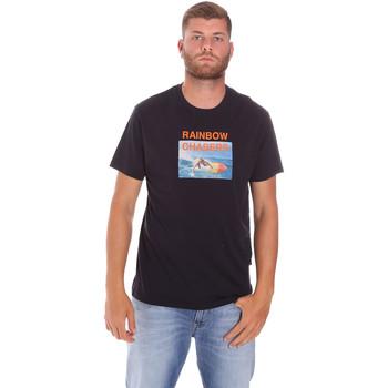 Textiel Heren T-shirts korte mouwen Sundek M047TEJ7800 Zwart