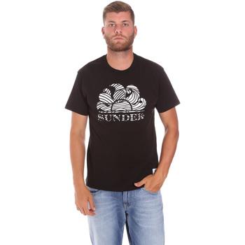 Textiel Heren T-shirts korte mouwen Sundek M027TEJ78ZT Zwart