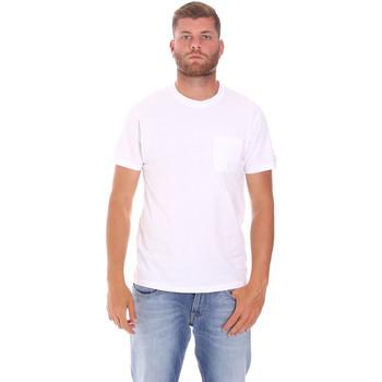 Textiel Heren T-shirts korte mouwen Sundek M050TEJ9300 Wit