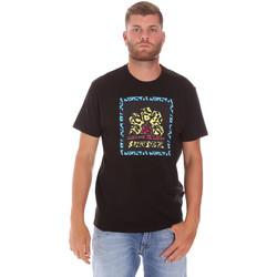 Textiel Heren T-shirts korte mouwen Sundek M021TEJ78FL Zwart