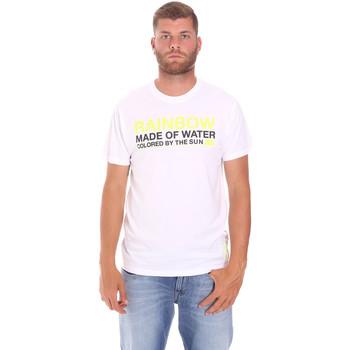 Textiel Heren T-shirts korte mouwen Sundek M058TEJ7800 Wit