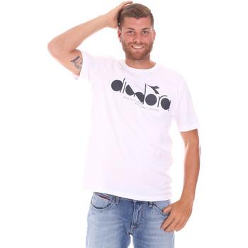 Textiel Heren T-shirts korte mouwen Diadora 502176633 Wit