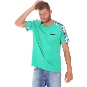 Textiel Heren T-shirts korte mouwen Diadora 502176085 Groen
