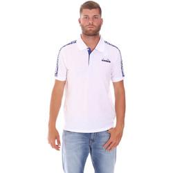 Textiel Heren Polo's korte mouwen Diadora 102175672 Wit
