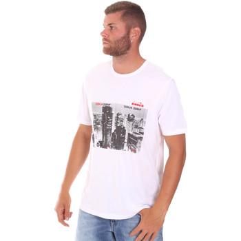 Textiel Heren T-shirts korte mouwen Diadora 102175861 Wit