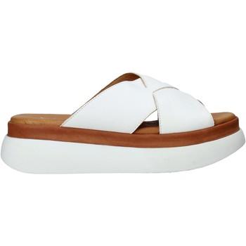 Schoenen Dames Leren slippers Sshady L2206 Wit
