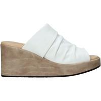 Schoenen Dames Leren slippers Sshady L2501 Wit