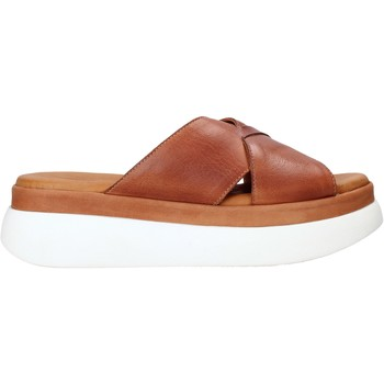 Schoenen Dames Leren slippers Sshady L2206 Bruin