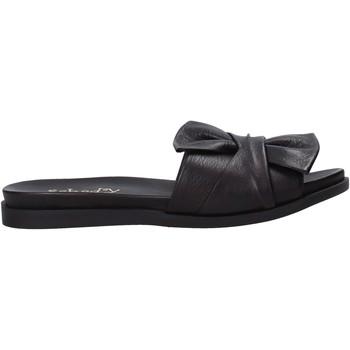 Schoenen Dames Leren slippers Sshady MRT231 Zwart
