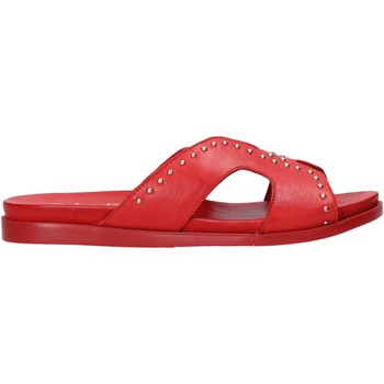 Schoenen Dames Leren slippers Sshady MRT233 Rood