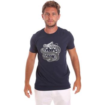 Textiel Heren T-shirts korte mouwen Roberto Cavalli HST64B Blauw