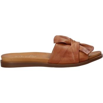 Schoenen Dames Leren slippers Sshady MRT231 Bruin