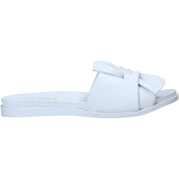 Schoenen Dames Leren slippers Sshady MRT231 Wit