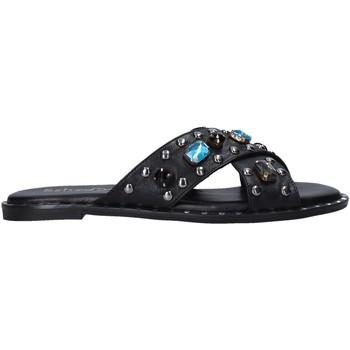 Schoenen Dames Leren slippers Sshady MRT510 Zwart