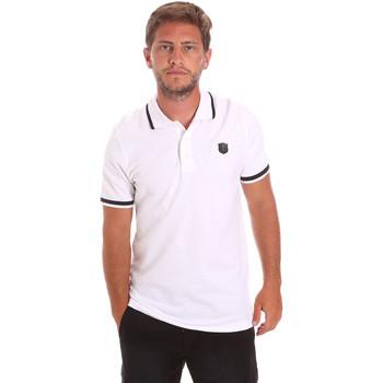 Textiel Heren Polo's korte mouwen Roberto Cavalli FST697 Wit