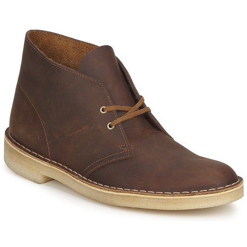 Schoenen Heren Laarzen Clarks DESERT BOOT Bruin