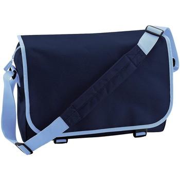 Tassen Jongens Schooltassen Bagbase BG21 Franse marine/Sky Blue