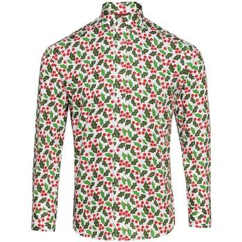 Textiel Heren Overhemden lange mouwen Christmas Shop CS001 Hulst Wit