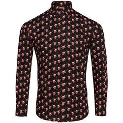 Textiel Heren Overhemden lange mouwen Christmas Shop CS001 Rendierzwart