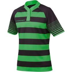 Textiel Jongens T-shirts korte mouwen Kooga K106B Zwart / Smaragdgroen