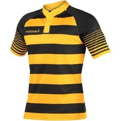 Textiel Jongens T-shirts korte mouwen Kooga K106B Zwart/Goud