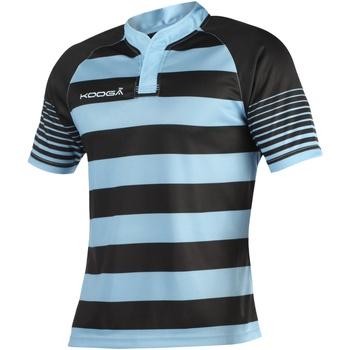 Textiel Jongens T-shirts korte mouwen Kooga K106B Zwart/Zwart